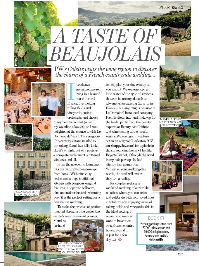 Perfect Wedding Magazine - Voyage de presse Colette Earley - Novembre 2016