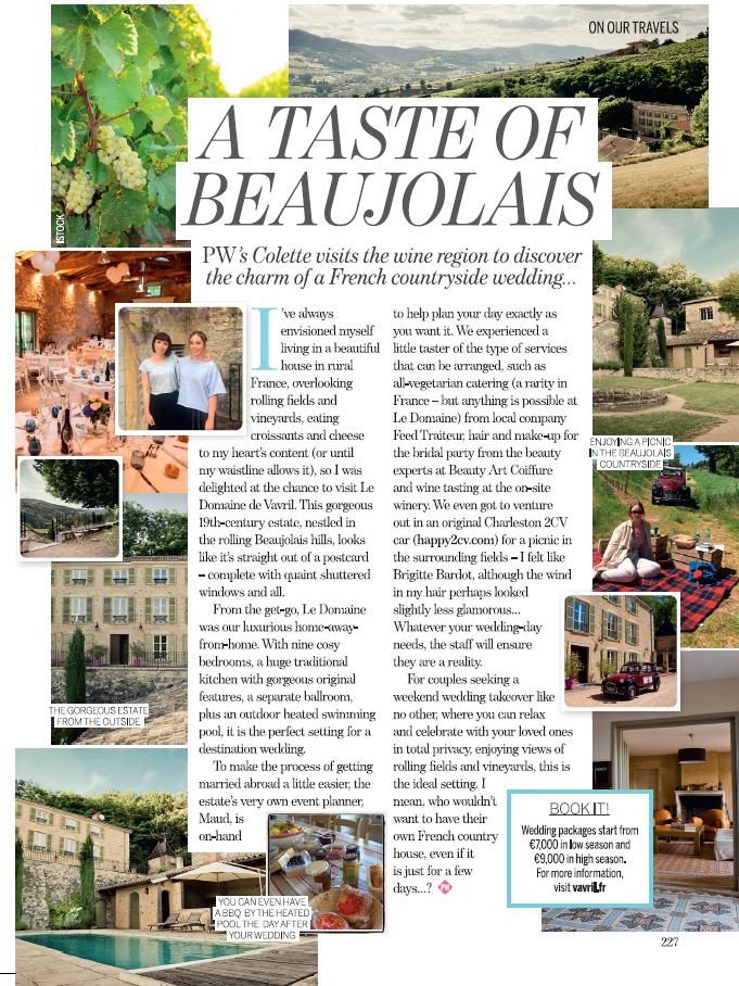 Perfect Wedding - Article Colette Earley - November 2016